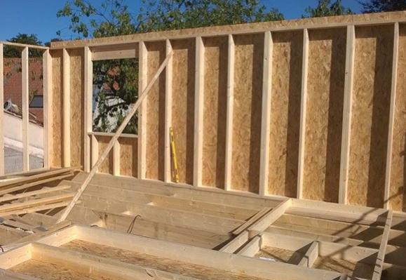 travaux extension bois